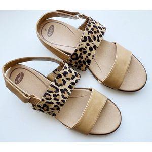 Dr Scholls • Leopard Print Freeform Sandals